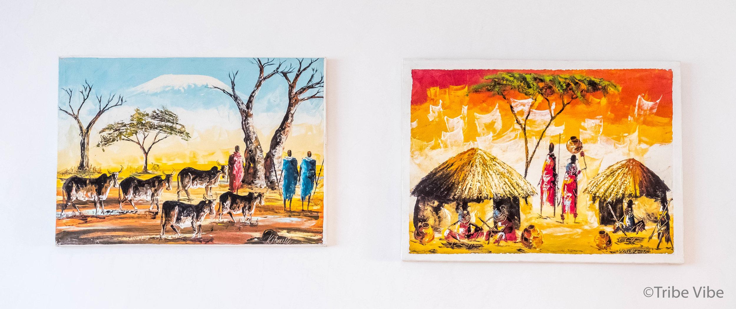 Tingatinga art from Tanzania