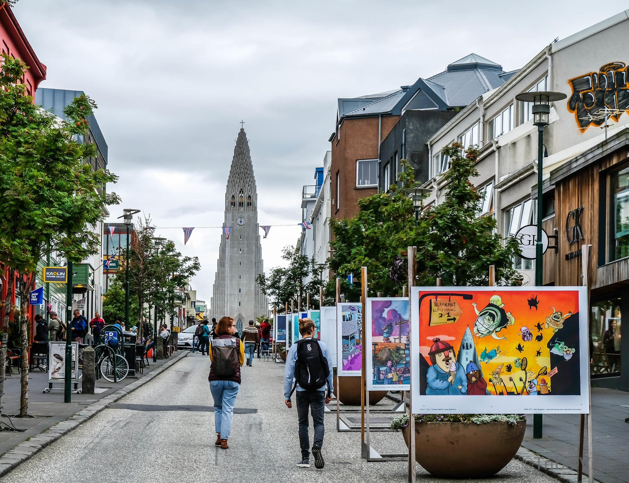 City centre in Reykjavik