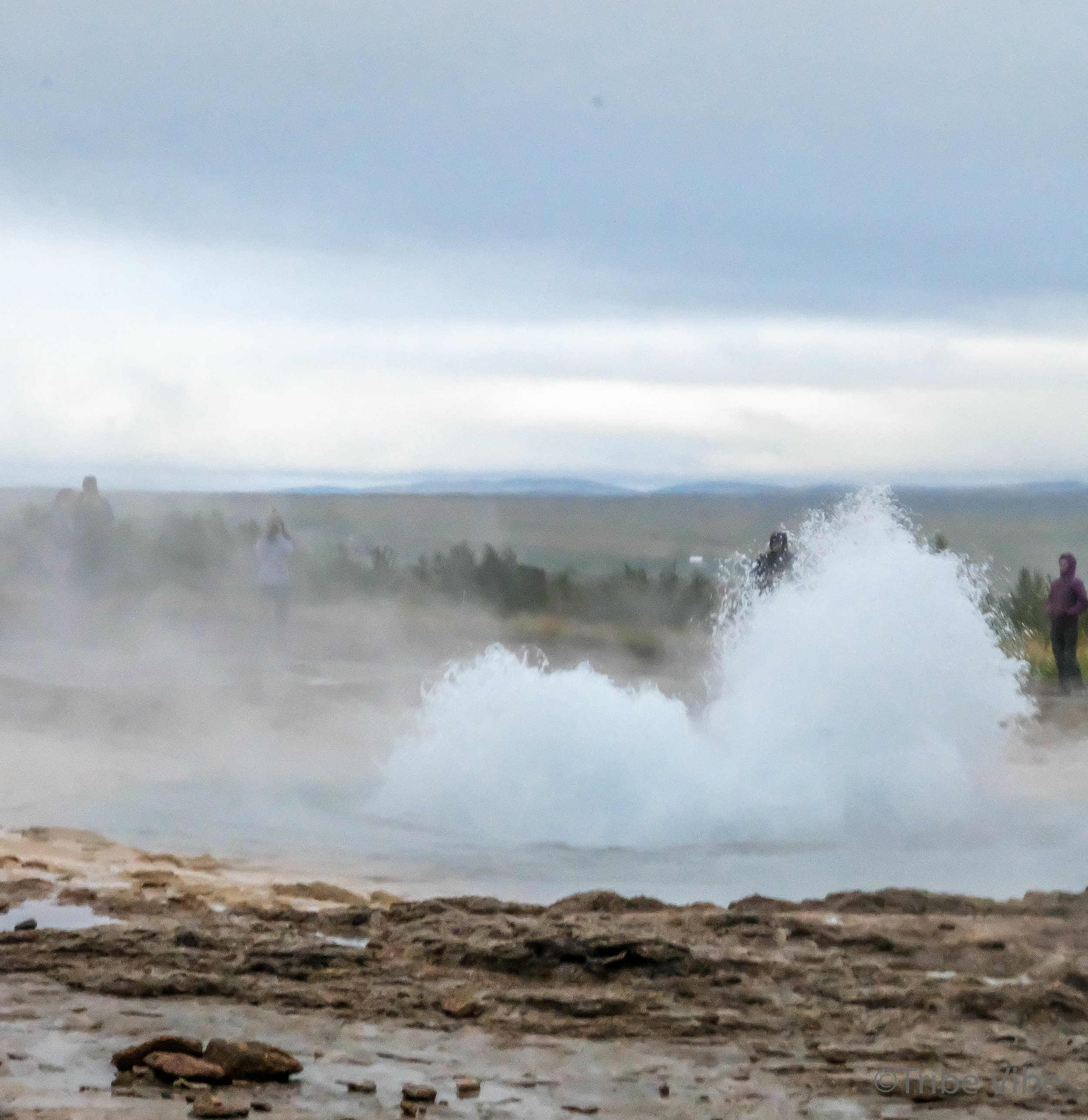 Trying unsuccessfully to capture a good shot of Strokkur erupting
