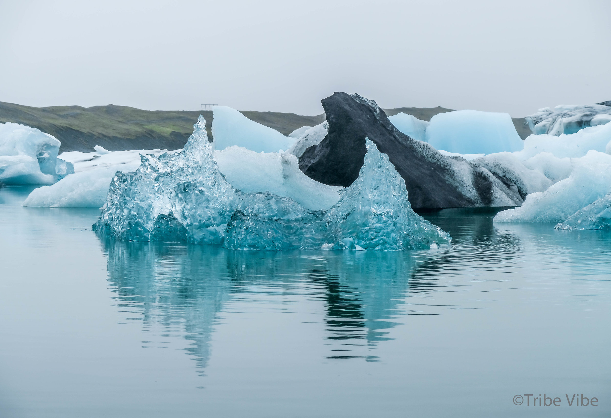 Beautiful formations at Jokularson Glacier Lagoon