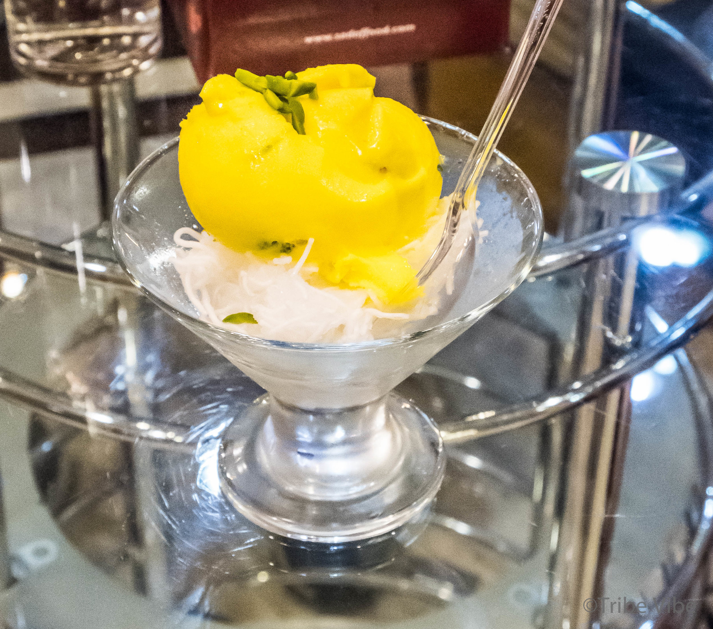 Faloodeh and saffron ice cream