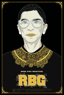 RBG Film. Inspirational movie about Ruth Bader Ginsburg.