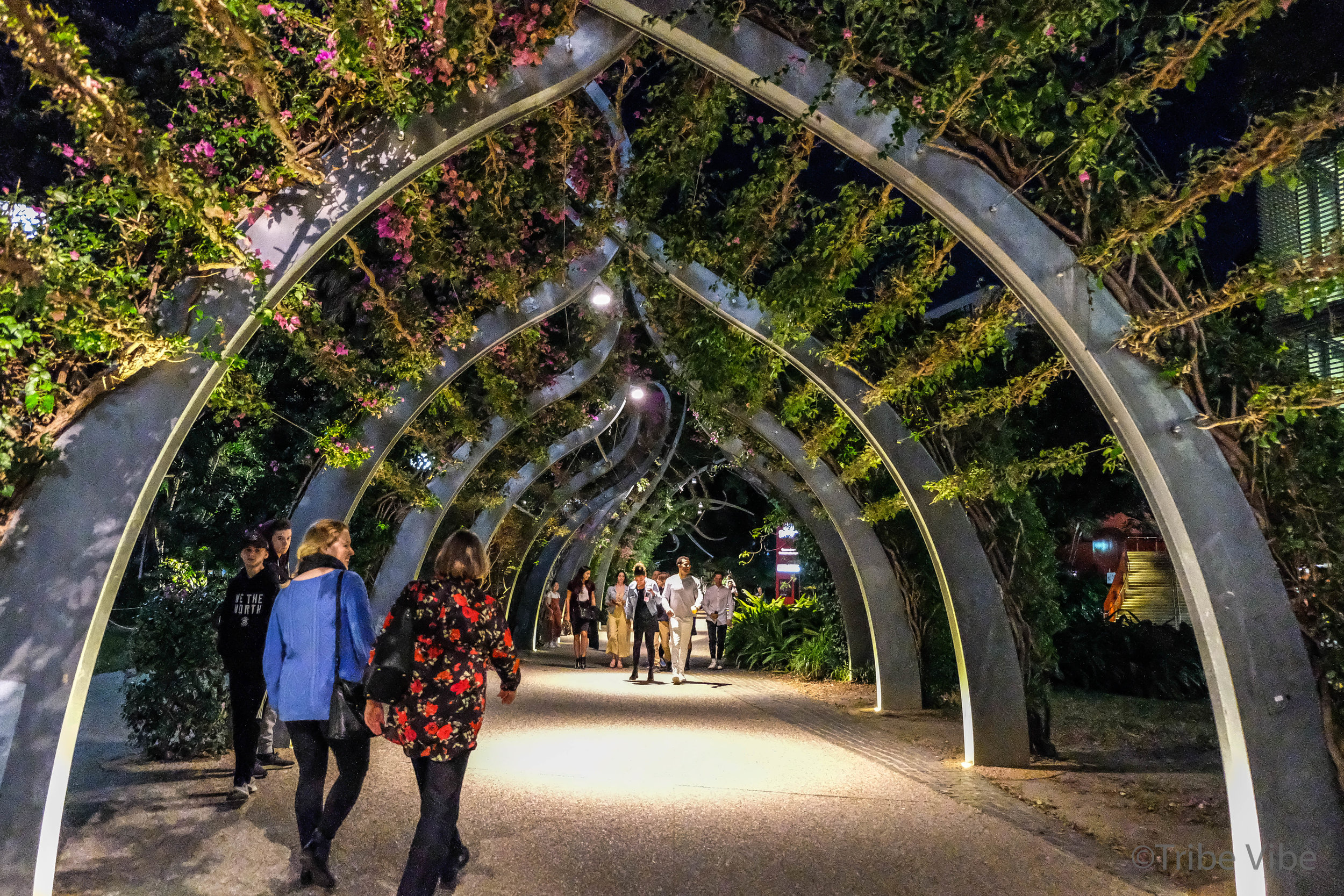Walkway at South Bank in Brisbane, Australia.