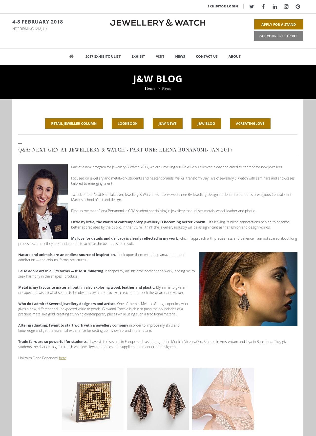 Elena Lara Bonanomi - Jeweller & Watch Birmingham