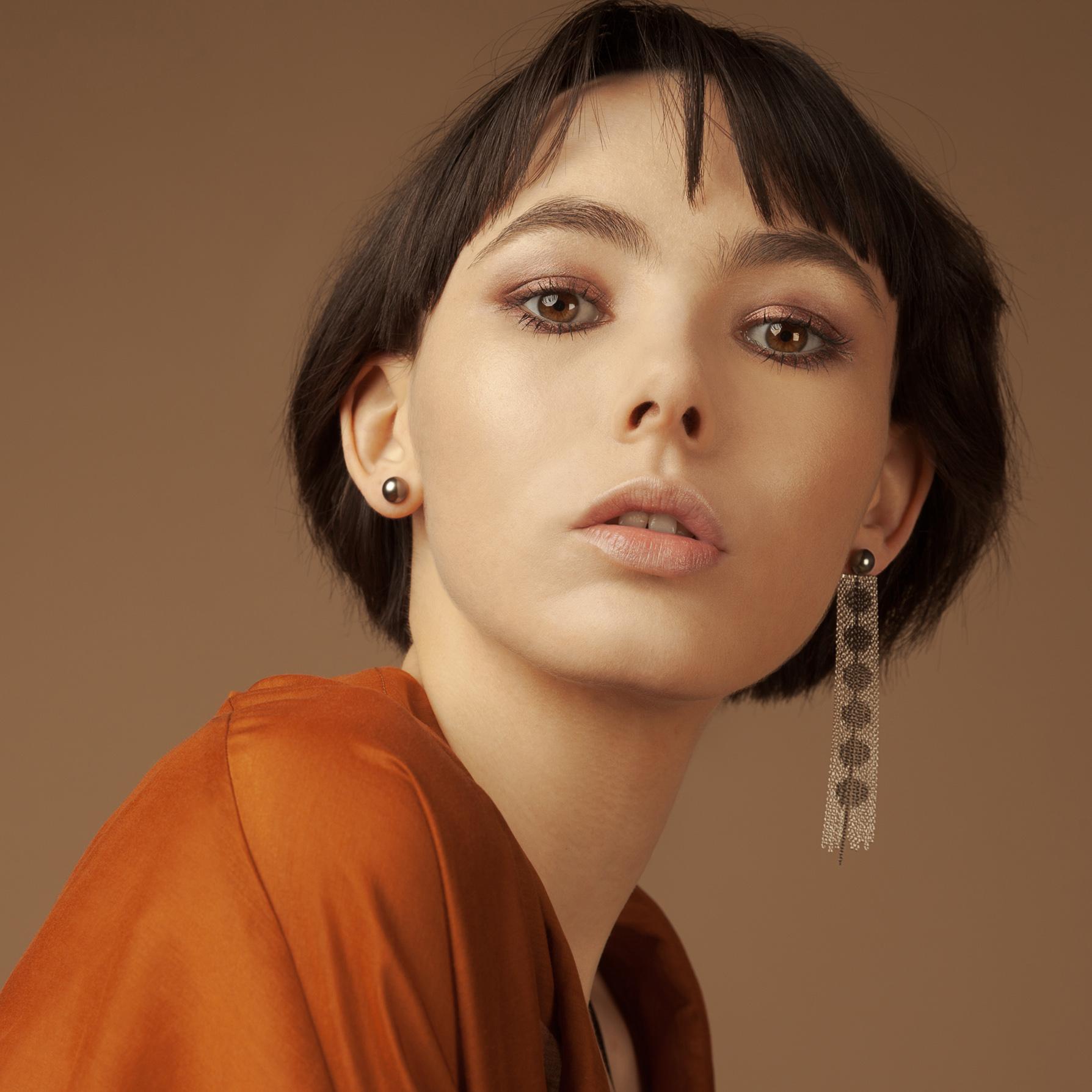Pearls long earrings