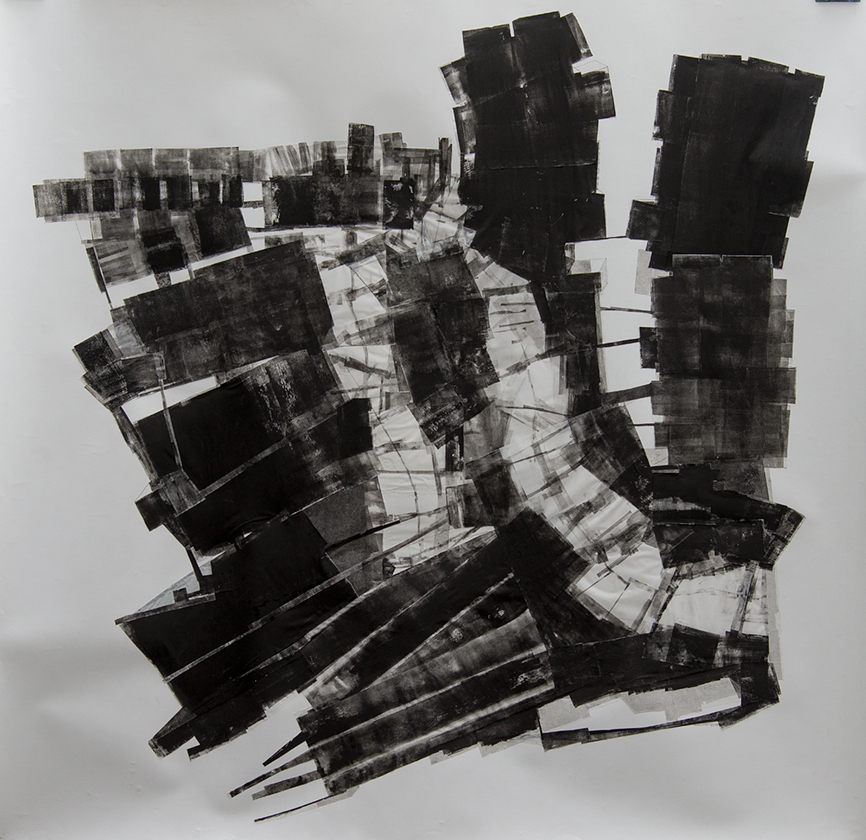 ///FRAGMENTS I / collage on Arches paper / 150-150 cm / 2014