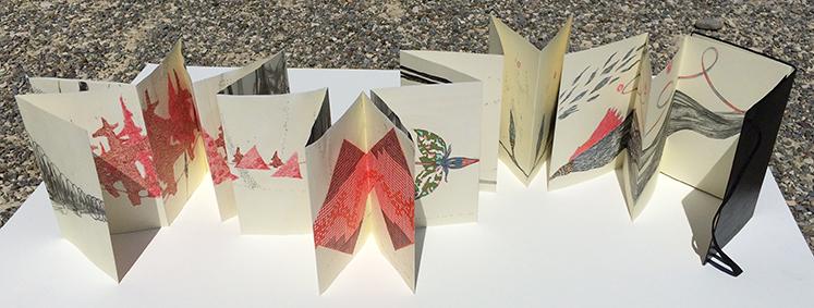 /// Resources of the Tree  / artist's book - leporello moleskine / single copy / 2013