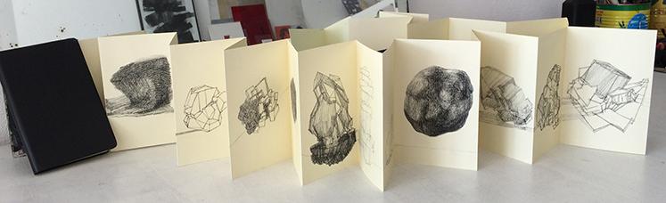 /// Entités  / artist's book - leporello moleskine / single copy / 2015-16
