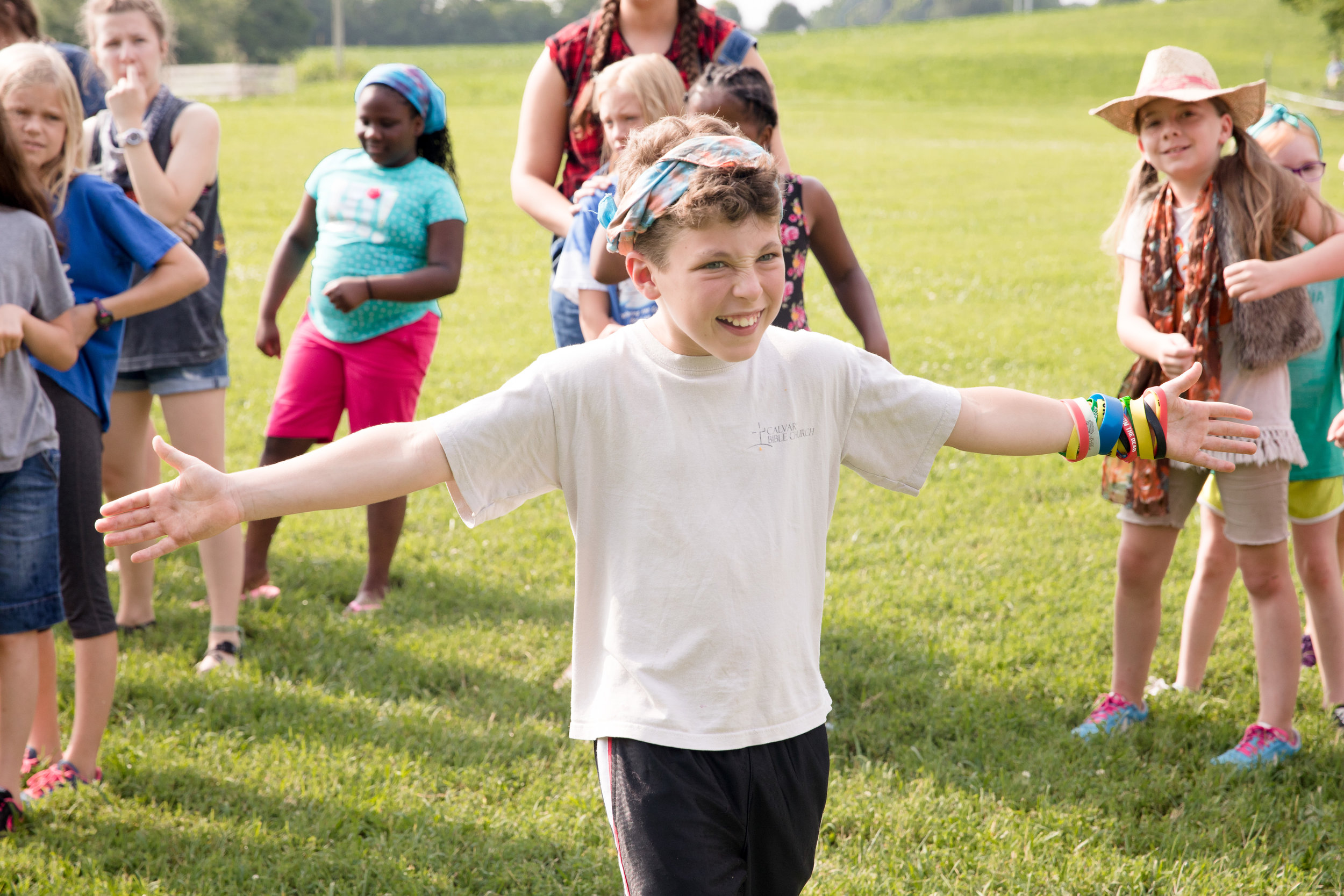 This overnight camp built for rising 3rd-5th graders combines the perfect amount of structure and flexibility as campers attend topical biblical seminars, participate in electives such as theater and hiking, and enjoy the beauty of God's great outdoors. Campers live in cabins of 6-12 other campers with our CPR and first-aid certified staff.    Price is $250 and includes all meals, a t-shirt, a water bottle, a backpack, and Dropbox access to the week's photos.