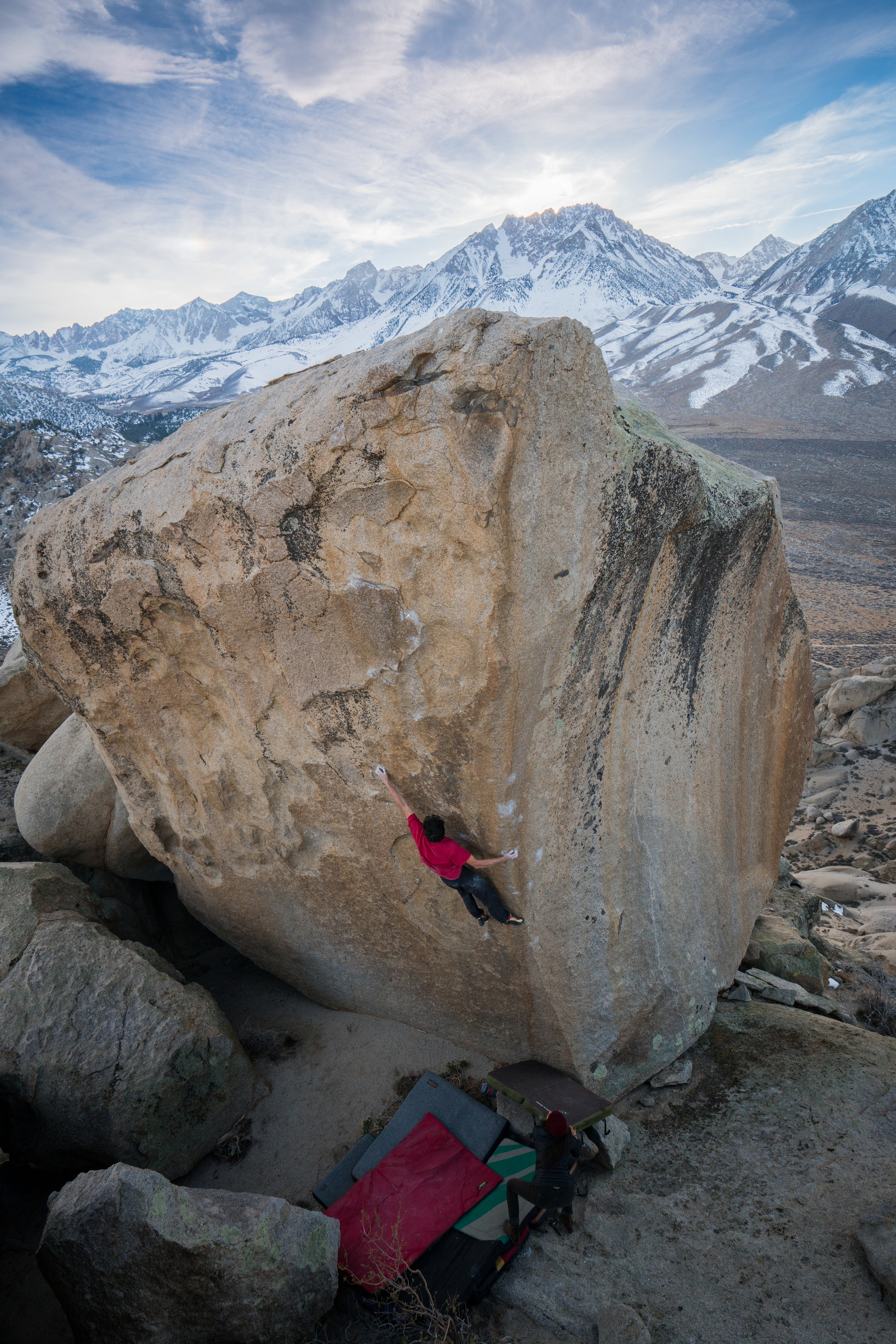 The dynamic left hand lunge of Terminus. Photo: Kevin Takashi Smith