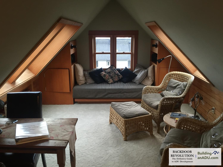 An attic conversion inlaw suite.