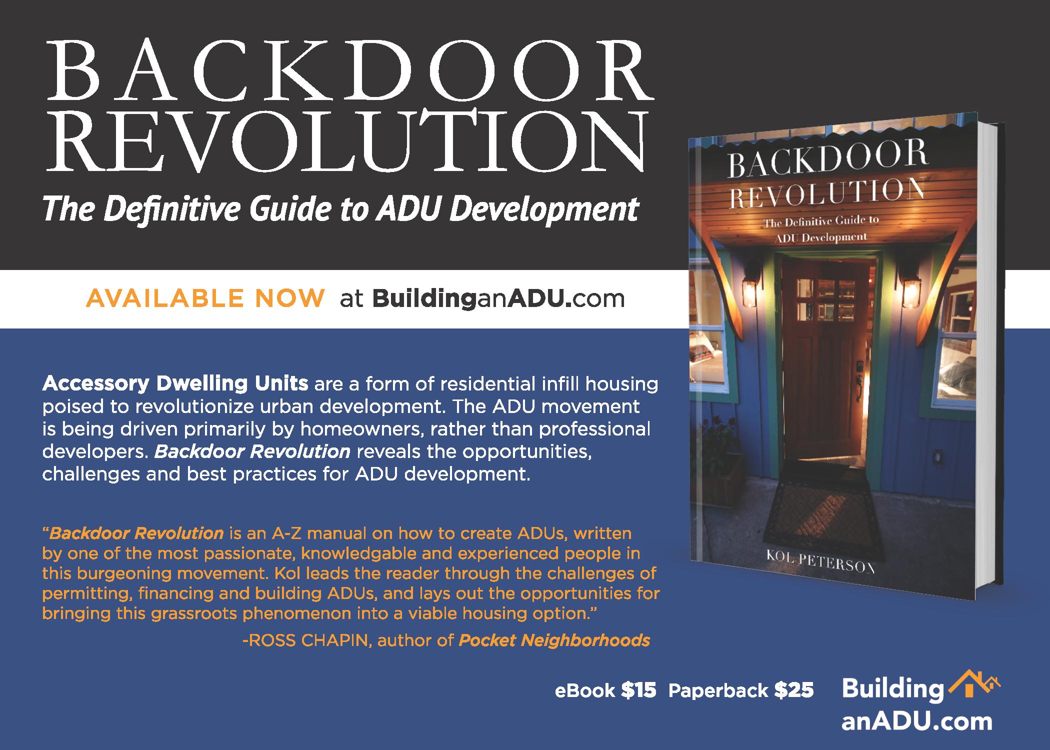 Purchase a copy at  http://www.buildinganadu.com/backdoor-revolution/