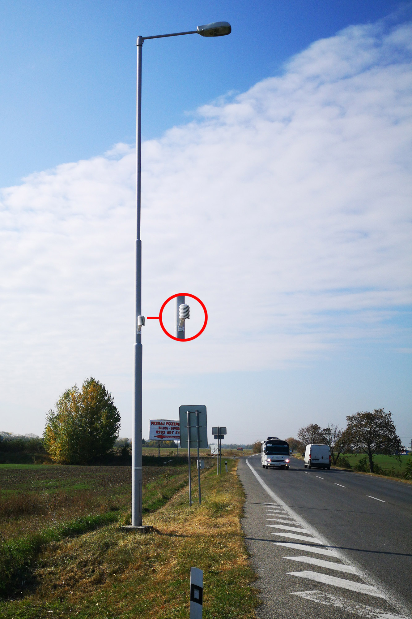 class 1 road micro-weather station for climate monitoring of busy motorways
