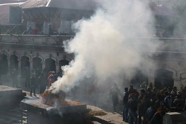 Cremation at the Pashapatinath Temple