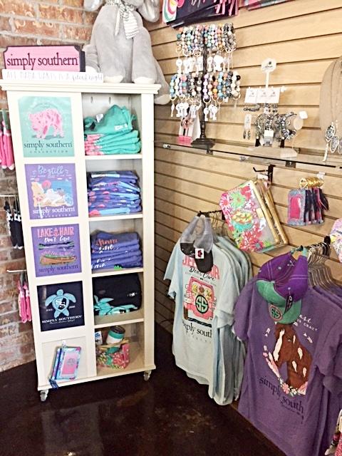 Simply Southern T-shirt display