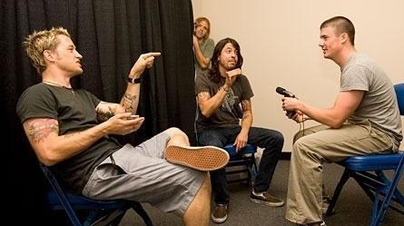 Interviewing Foo Fighters