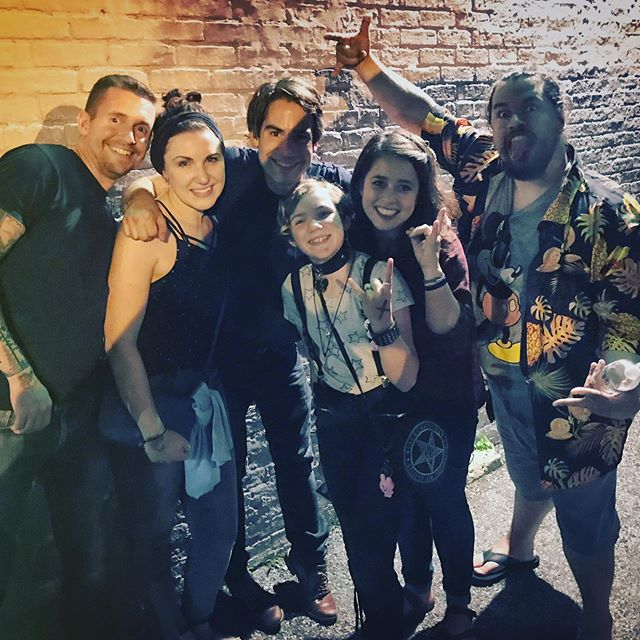 """The star of the """"Leak Water"""" music video came to see us last night in Baltimore, now a very cool eleven-year-old, and my, how time flies."""