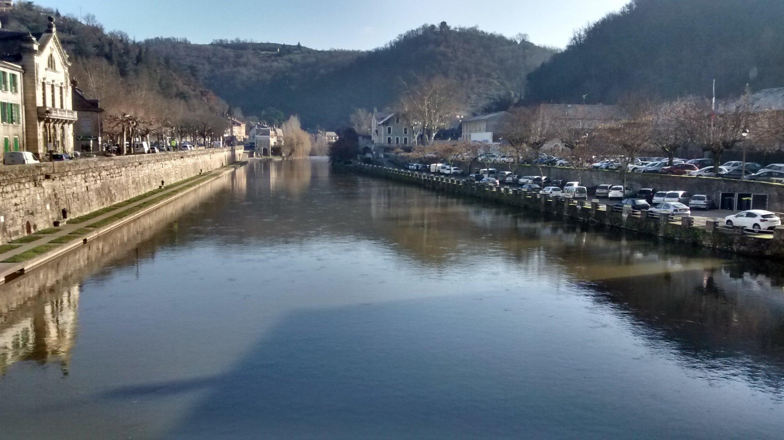 Aveyron River Villefranche de Rouergue..La Riviere a Villefranche de Rouergue