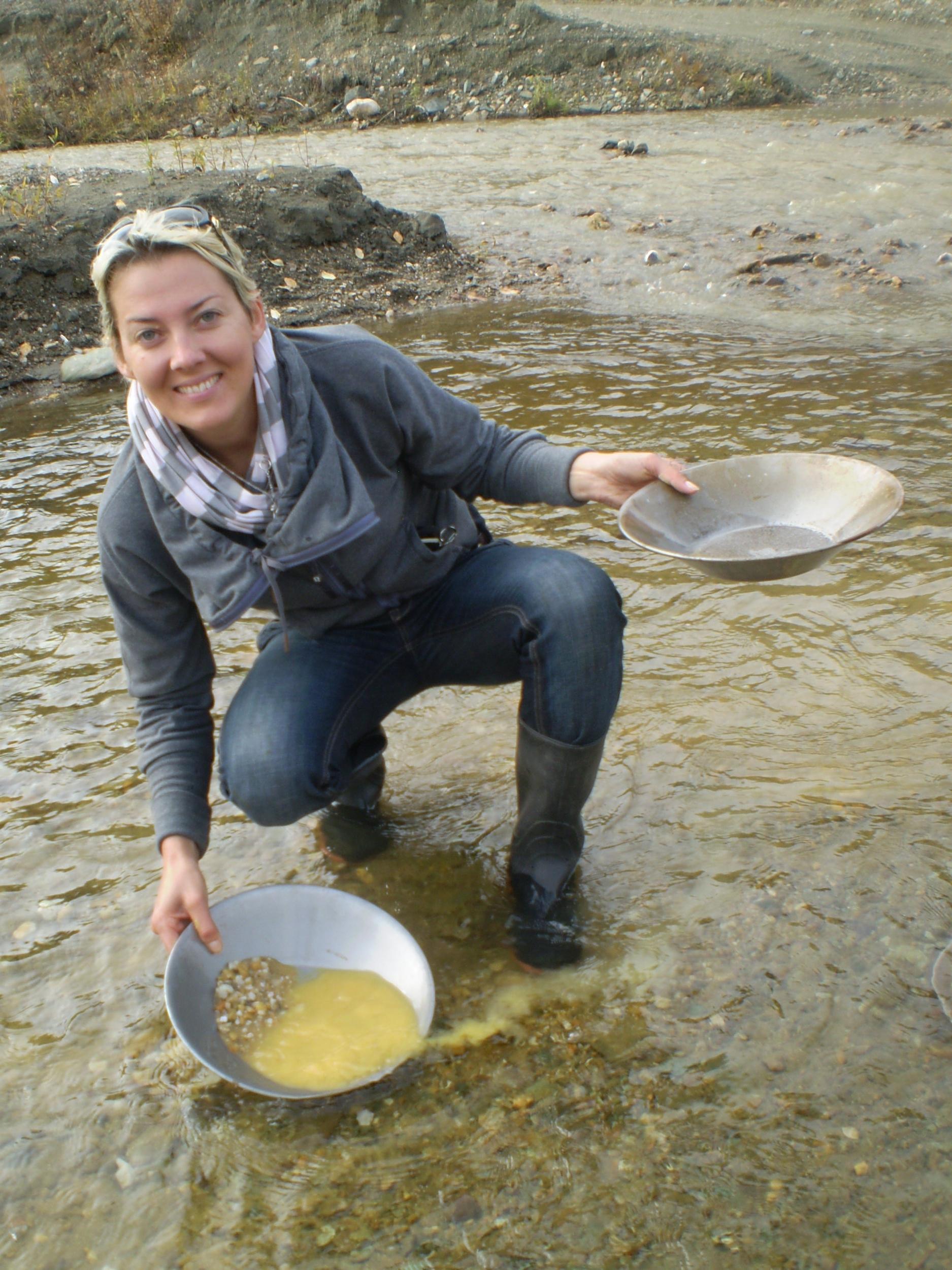 Gold panning Alaska
