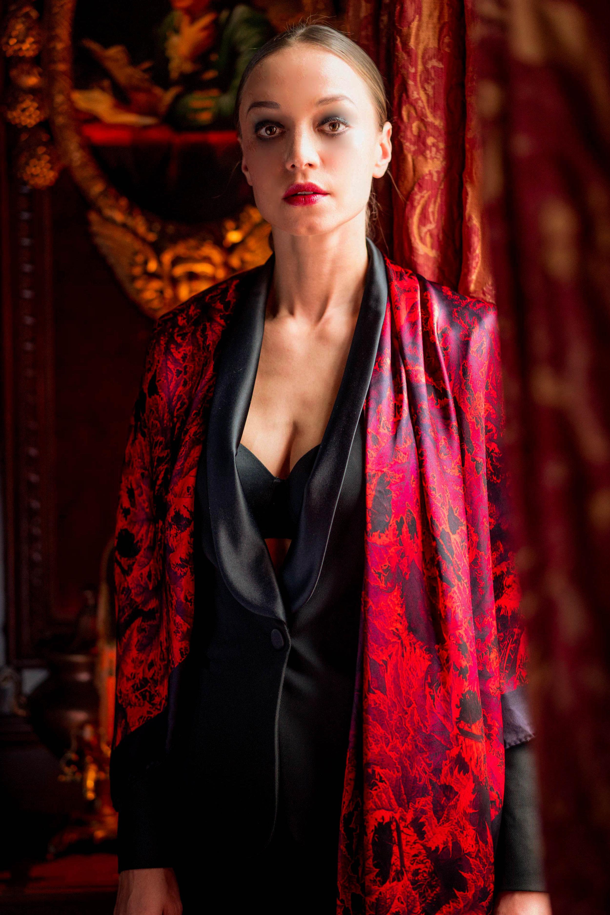 BOHEMIAN RHUBARB- large silk wrap scarf €295 .jpg