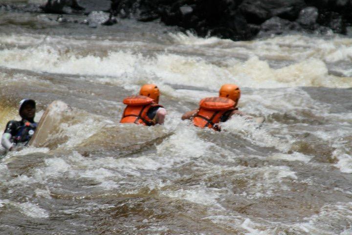 Zambezi river body boarding.