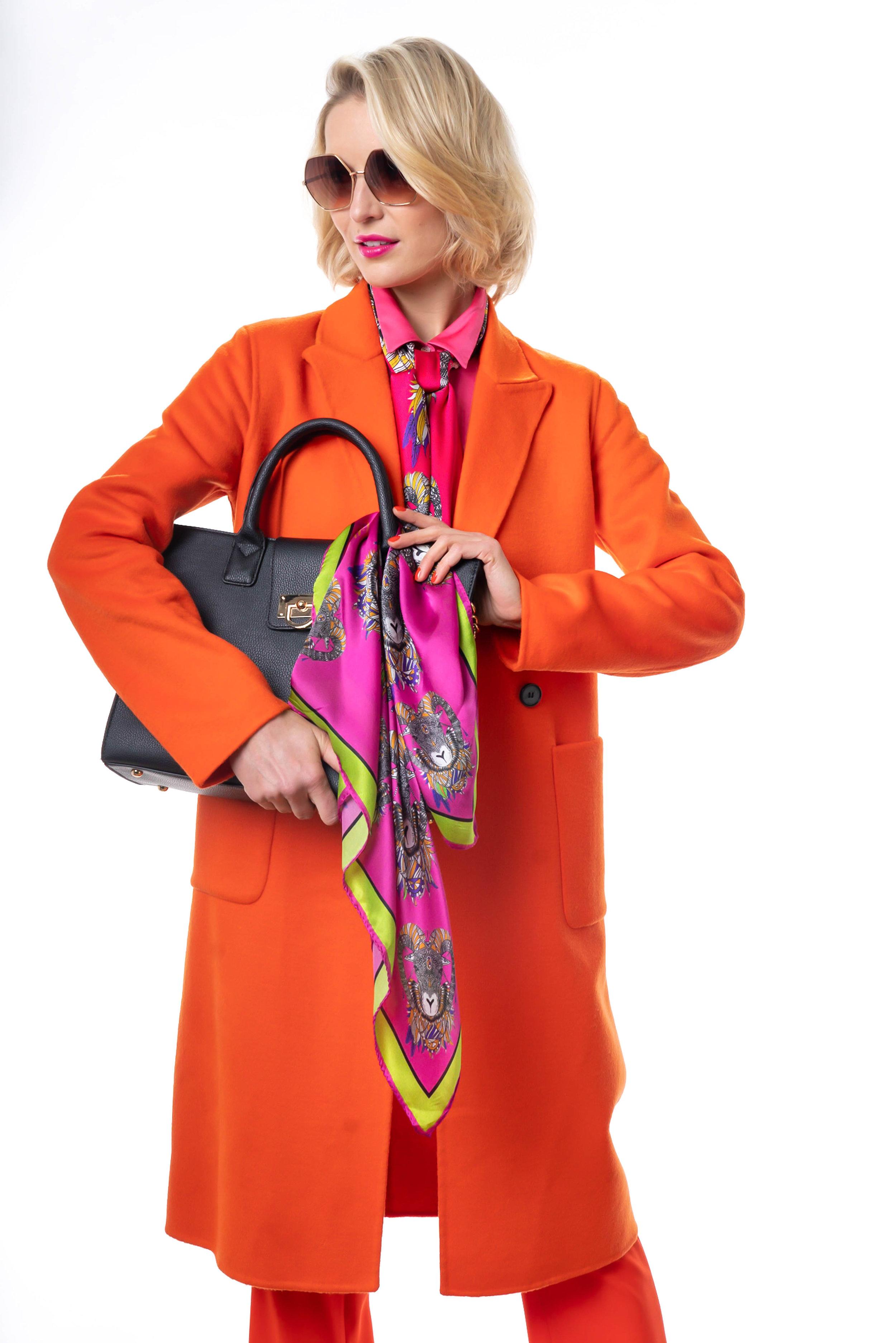 Debbie Millington Jester printed silk square scarf classic square
