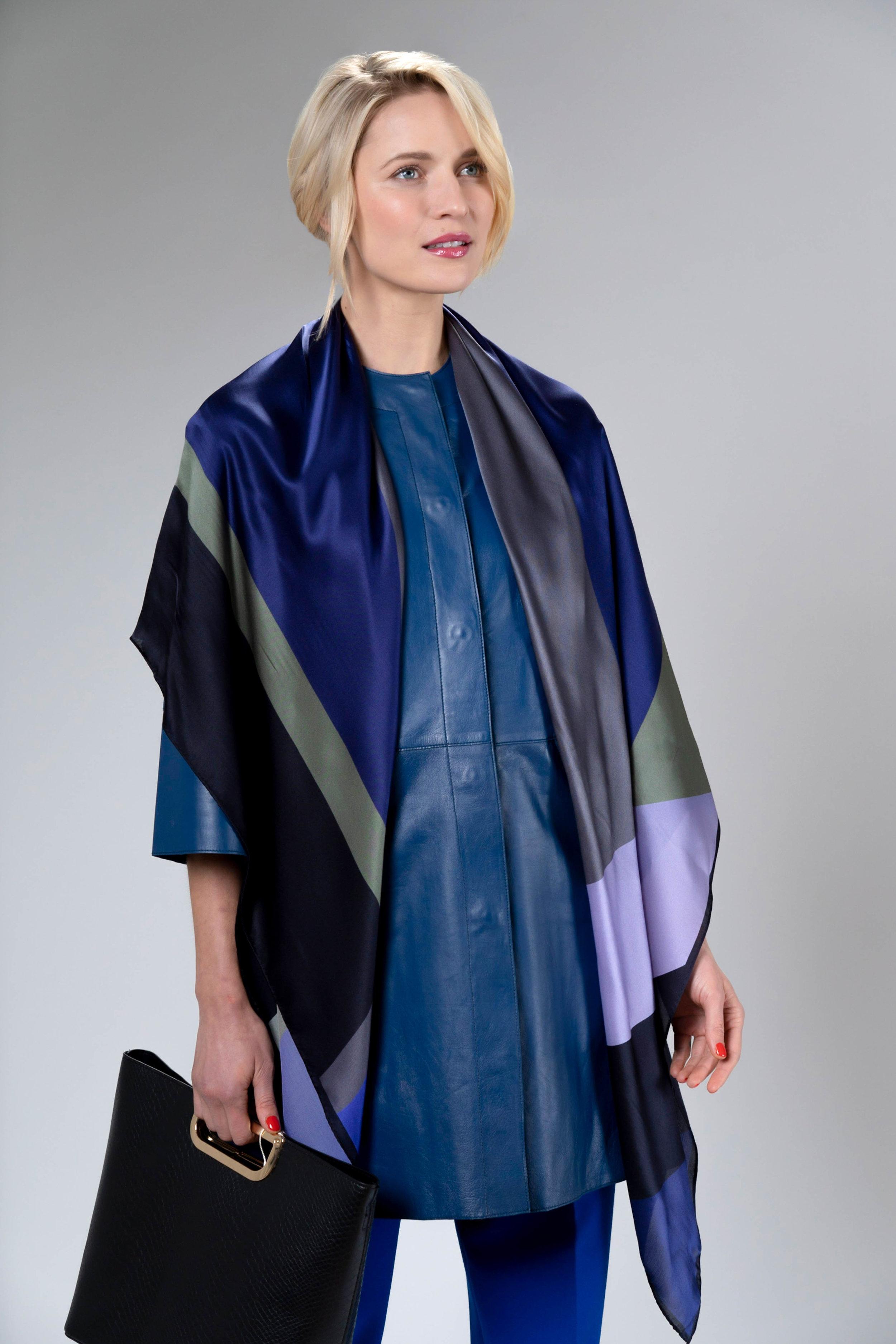 Debbie Millington - large Cubic silk wrap scarf