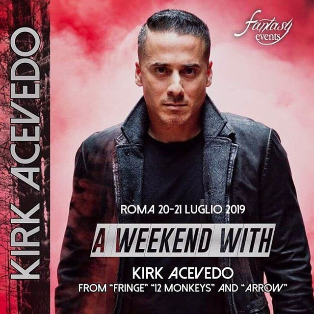 "📌🎊 For all the Arrow, 12 Monkeys and Fringe fandom! We are proud to announce the amazing Kirk Acevedo (@kirkacevedo) is joining our #FEmily! 💙👀 ""A Weekend with Kirk Acevedo' will take place in Rome 20th-21st July at the Sheraton Conference Hotel and Centre 💘🤩 Tomorrow all info on how to attend! 😎 • 📌🇮🇹 Per tutti i fan di Arrow, 12 Monkeys e Fringe! Siamo orgogliosi di annunciare che lo straordinario Kirk Acevedo si unirà alla nostra #FEmily! 💙👀 ""A Weekend with Kirk Acevedo"" si svolgerà a Roma dal 20 al 21 luglio allo Sheraton Conference Hotel and Center 💘🤩 Domani tutte le informazioni su come partecipare! 😎 • • • • #fringe #arrow #12monkeys #kirkacevedo #ricardodiaz #joséramse #carver #charliefrancis #fanmeet #meetandgreet #actor #rome #aweekendwith #adaywith #convention #fandom #event #summerrome #soon #fantasyevents #itacon"