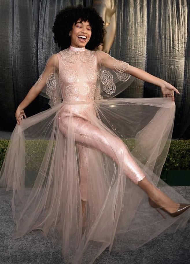 Yara Shahidi in Fendi Haute Couture