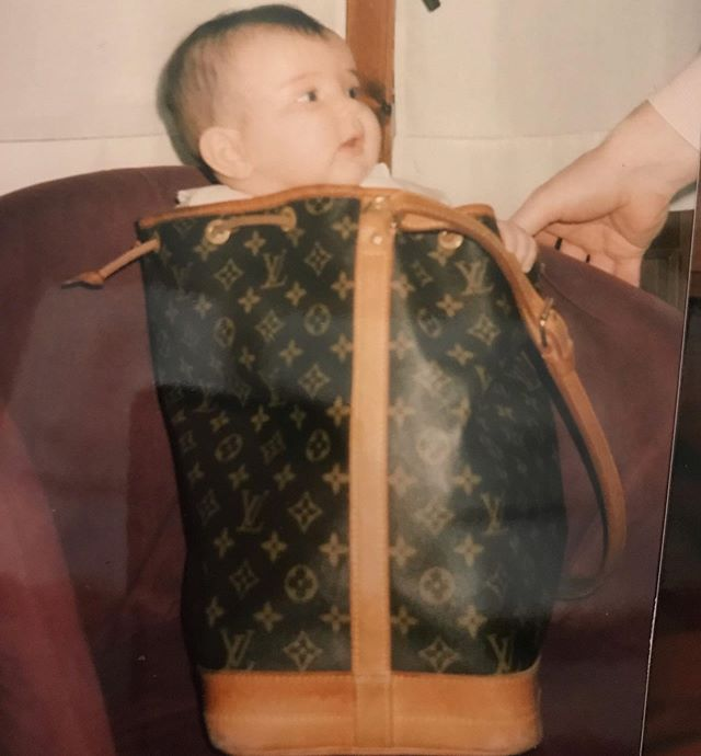 Obsessed with bags since 1995 #LVbaby #tbt