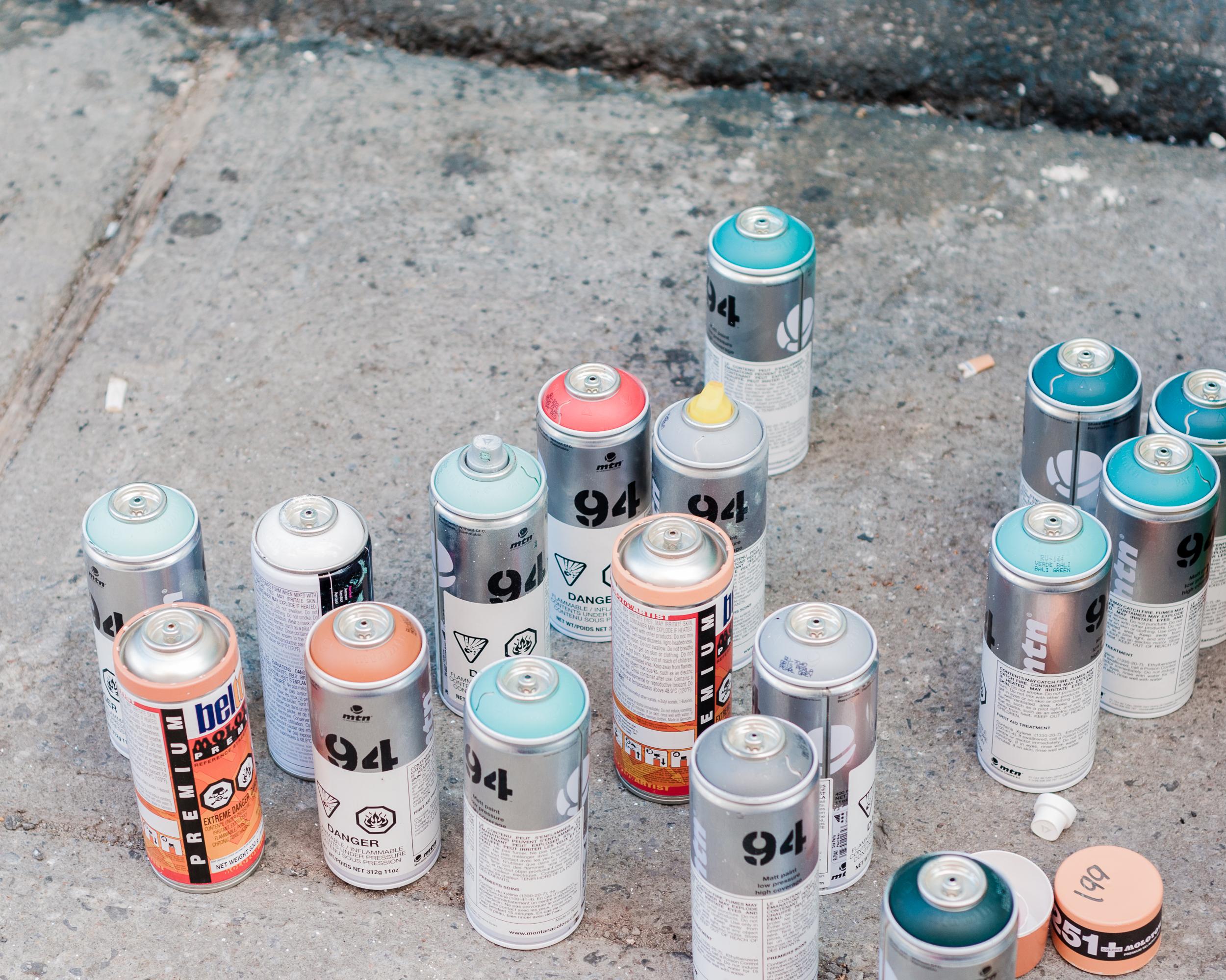 Under Pressure 2014:  Spray paint