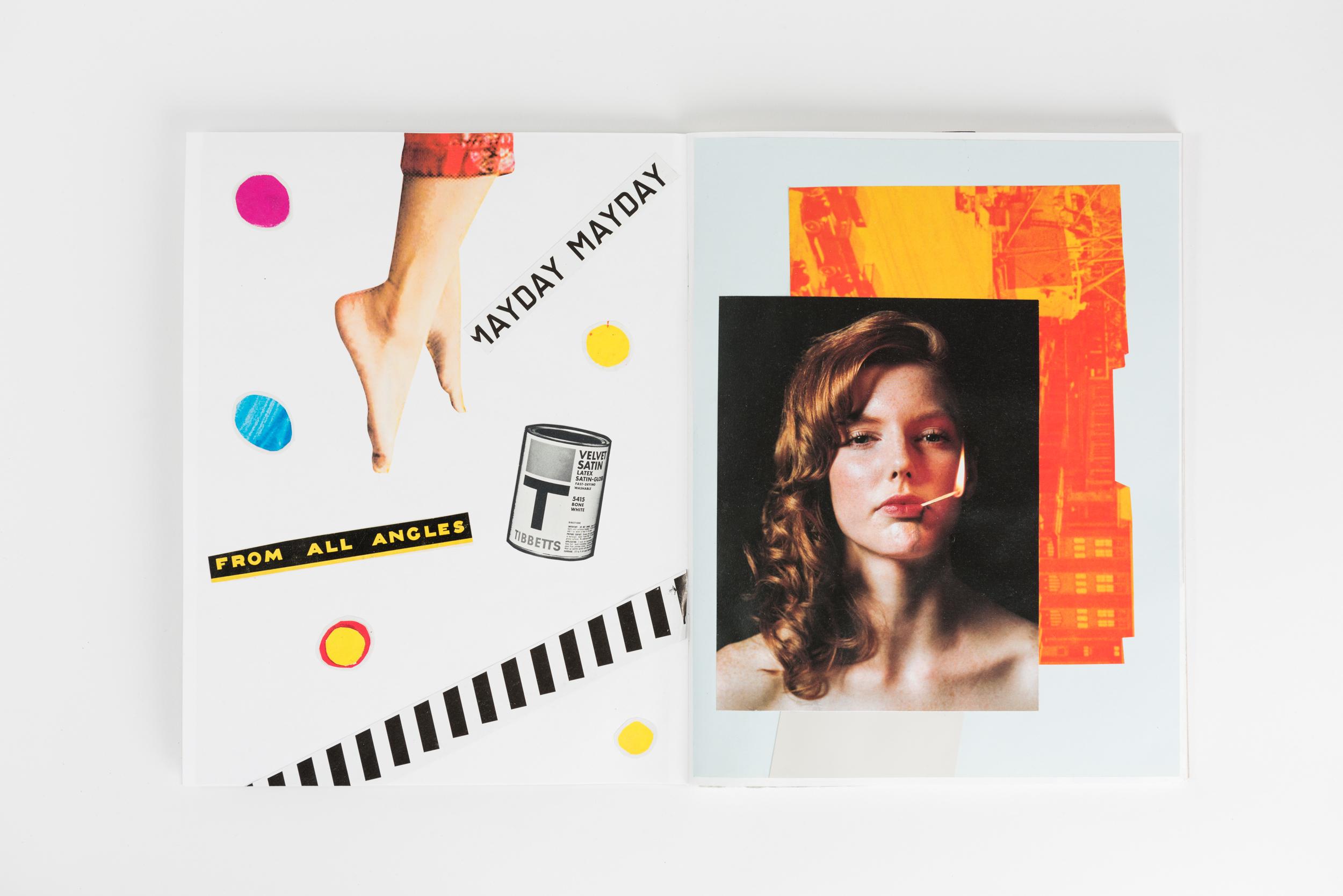 Sketchbook     Sketchbook collage made using magazines, books, etc.