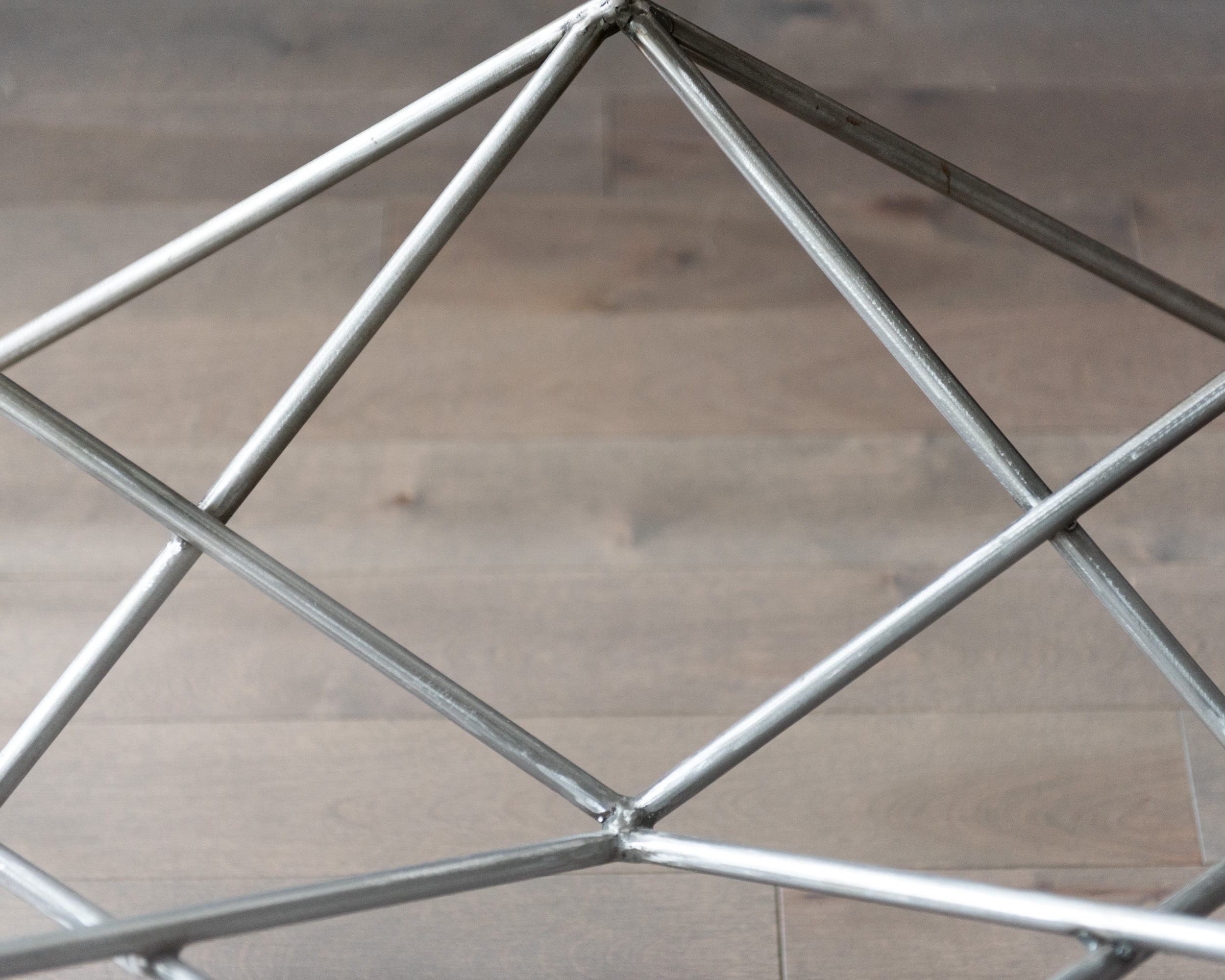 Collaboration with Ludovic Dubeau. Steel and metal table designed and fabricated in 2017.