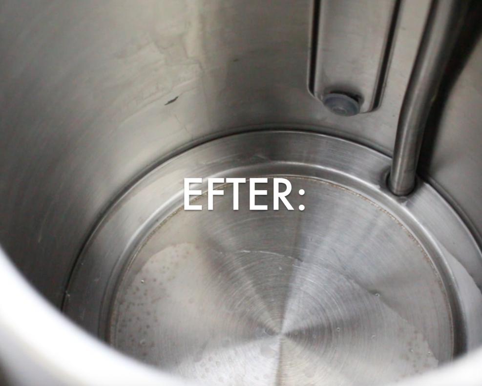 rengör vattenkokare giftfritt