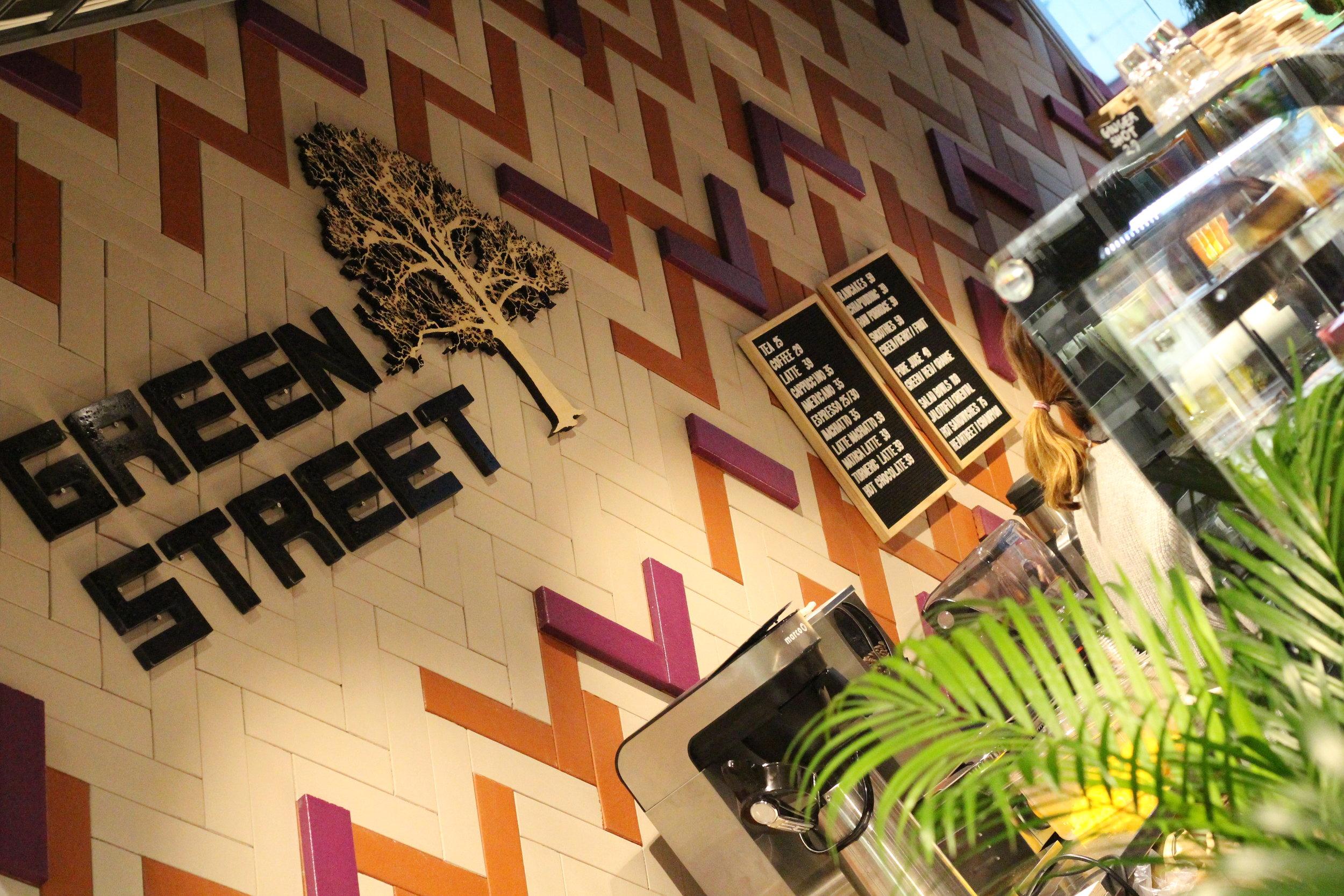 I butiken ligger Green Street Café med massa nyttiga godsaker!