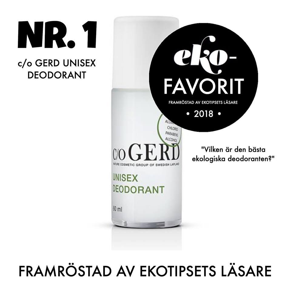 c/o Gerd bästa ekologiska deodoranten
