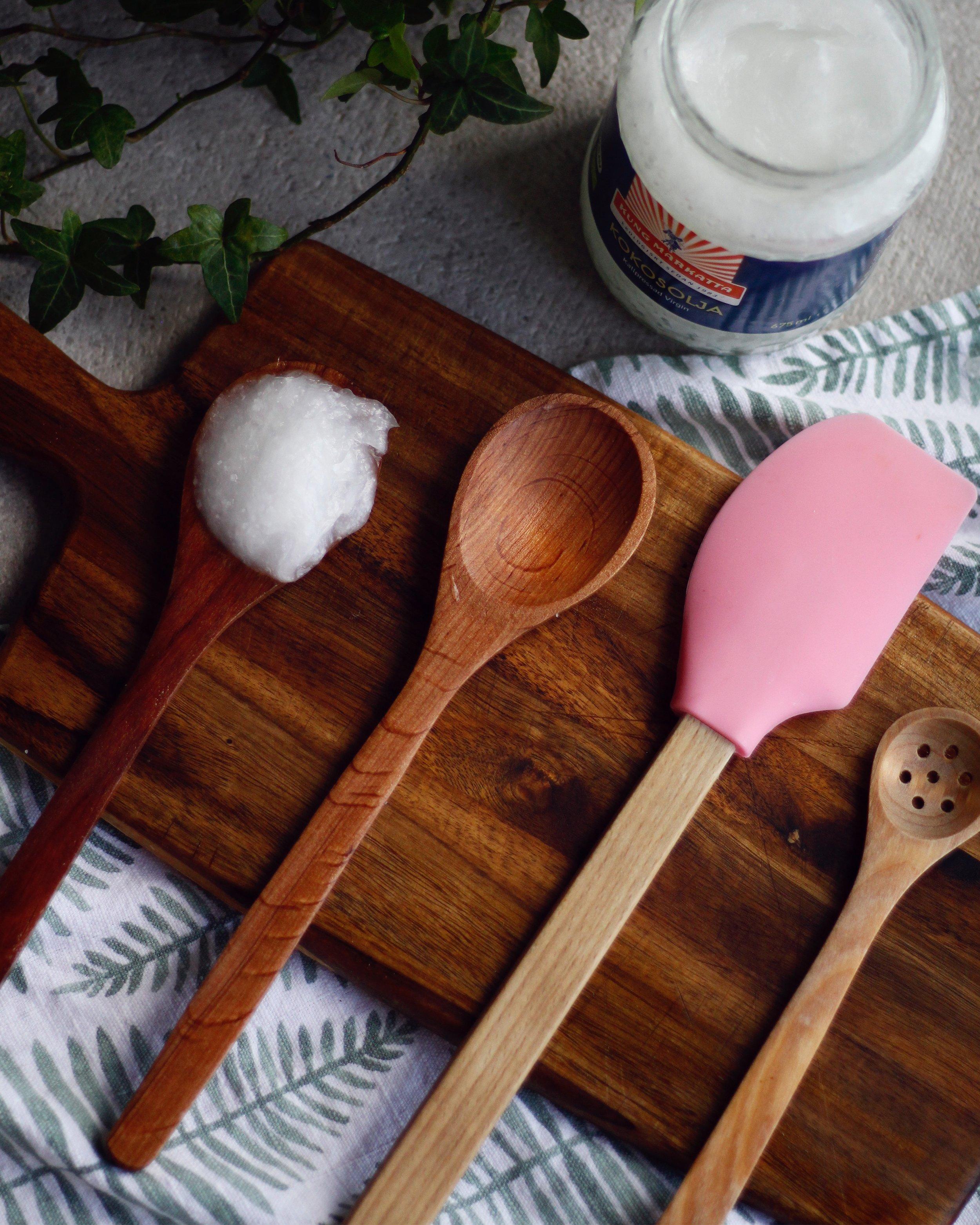 skärbräda kokosolja