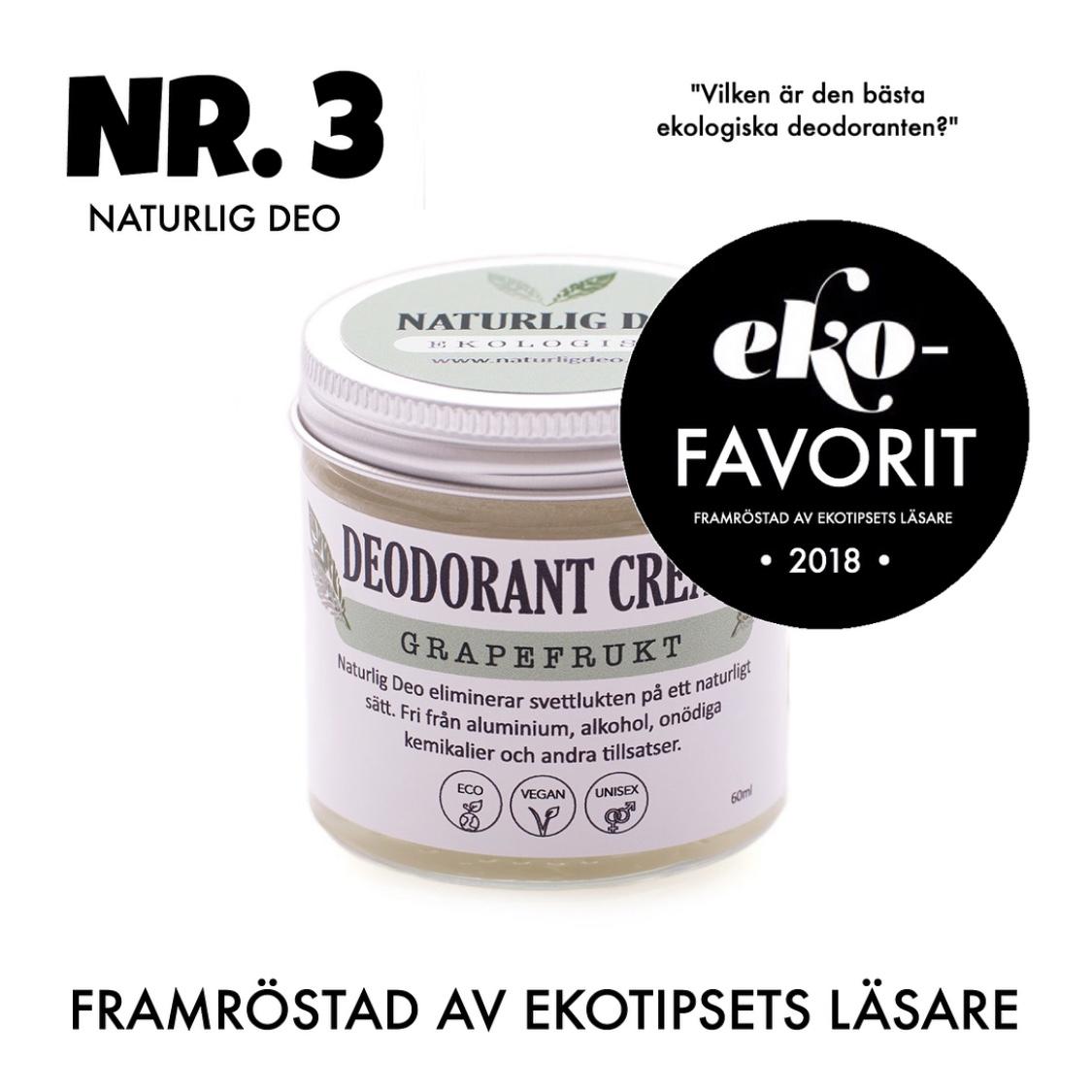 bästa ekologiska deodoranten naturlig deo
