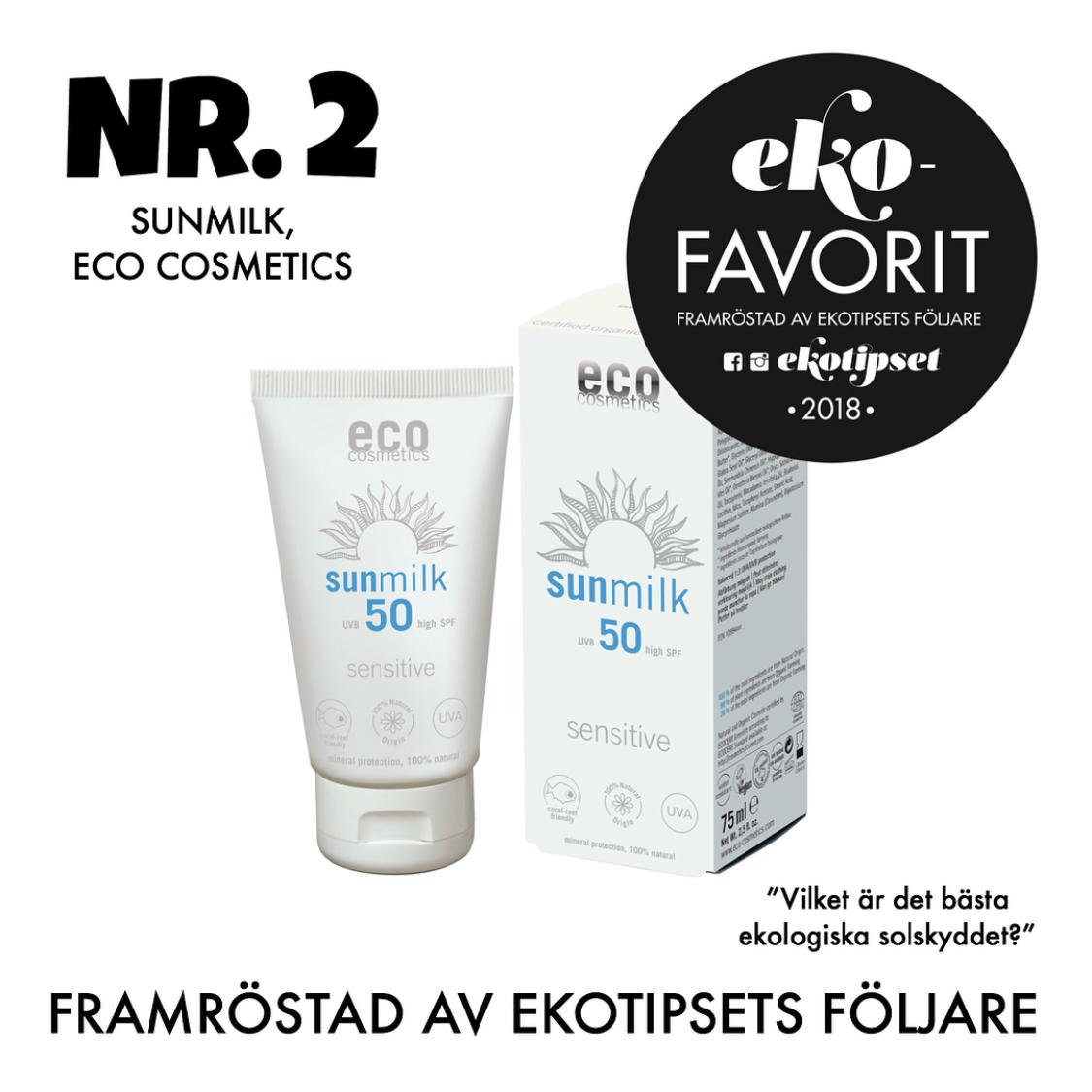 bästa ekologiska solskyddet eco cosmetics