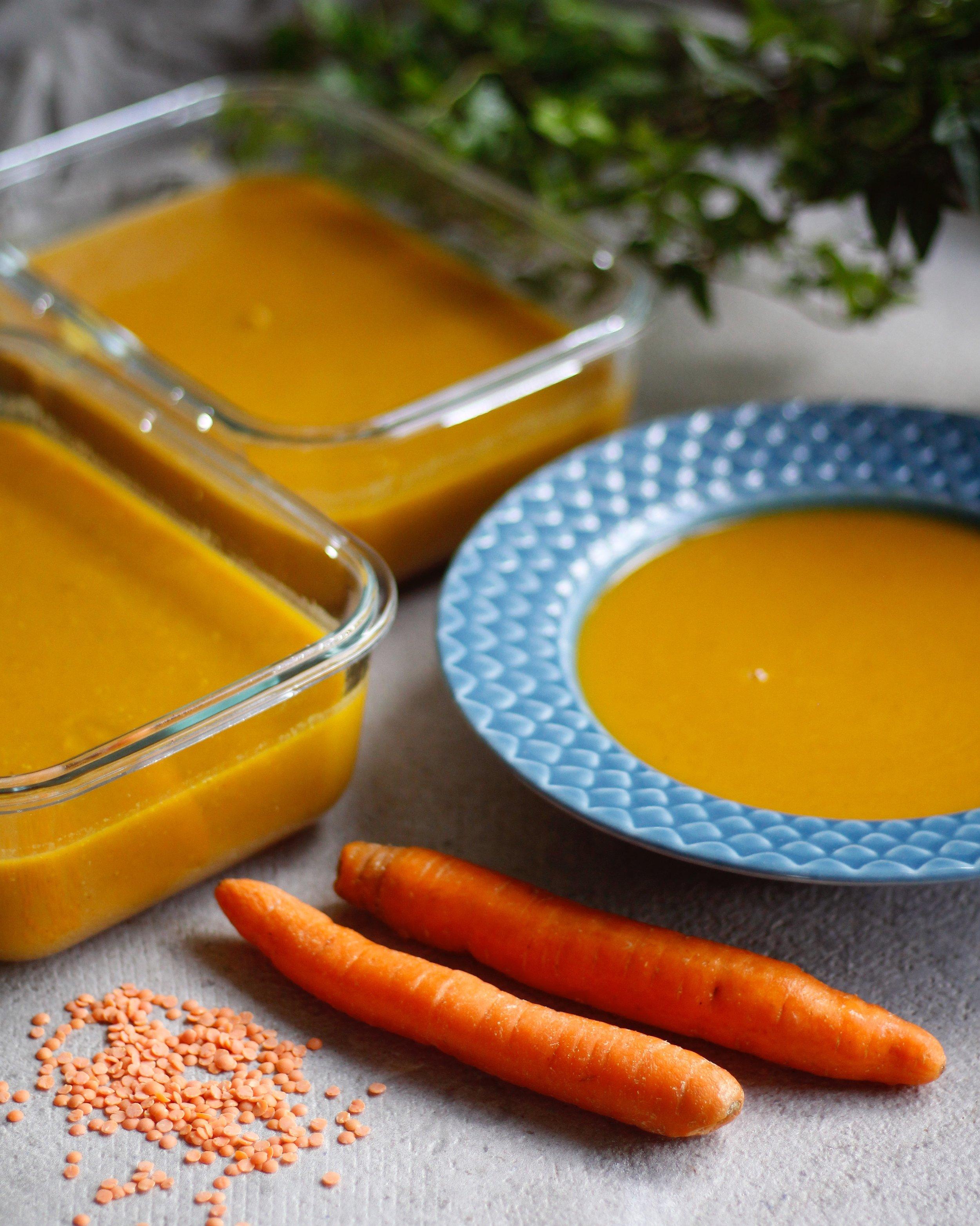 morotssoppa med linser