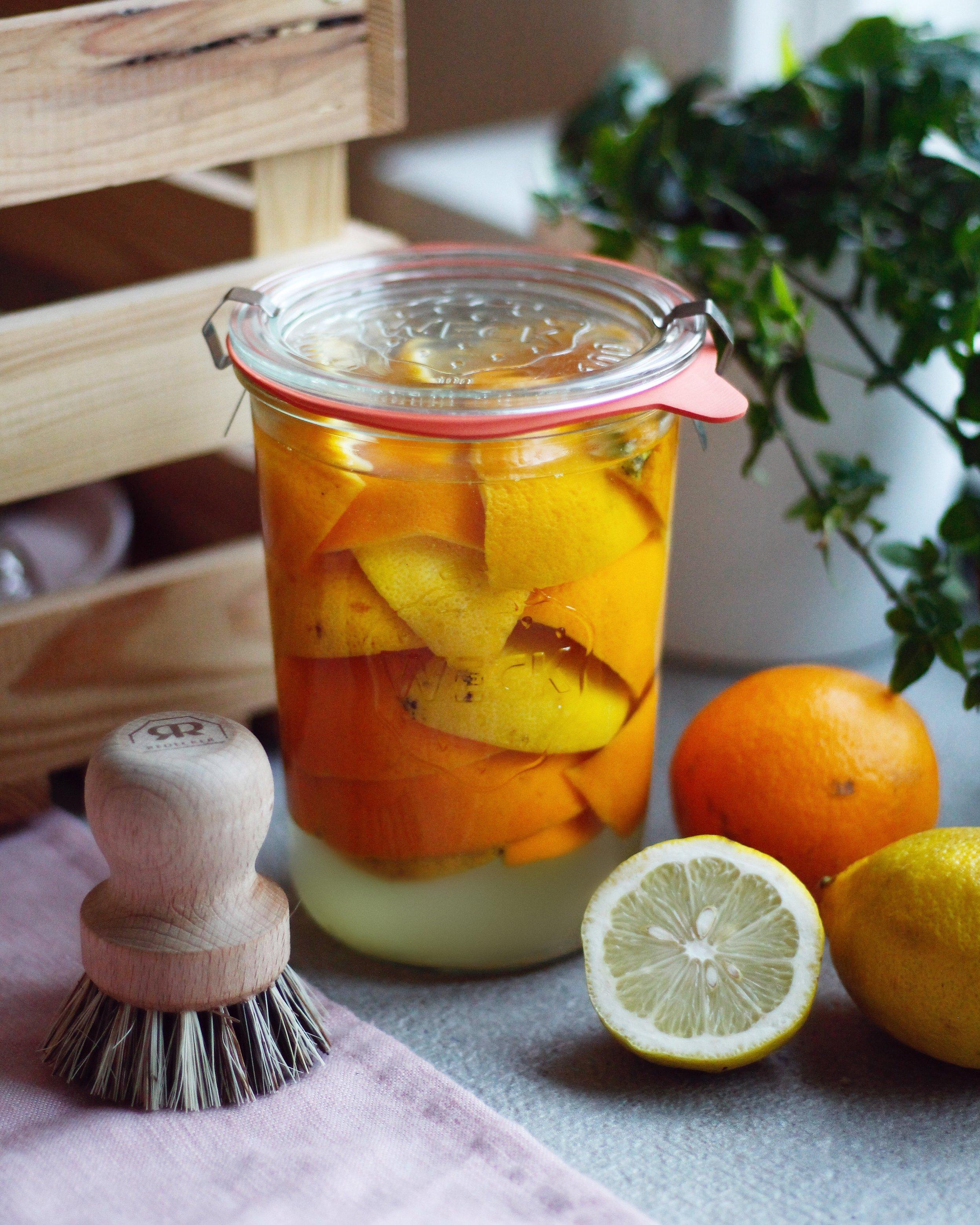 städa med ättika apelsinskal
