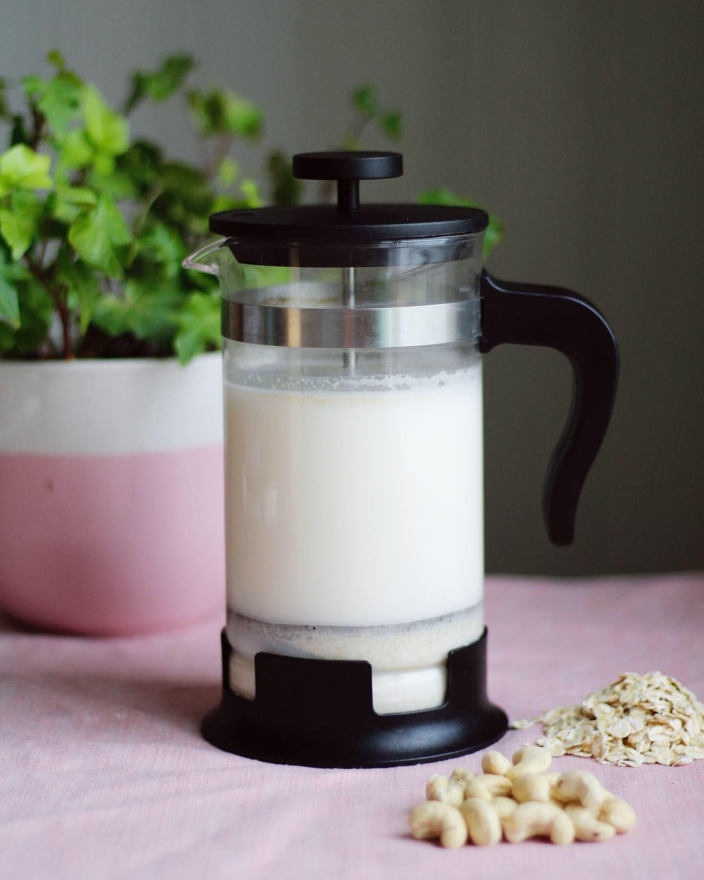 havredryck i kaffepress