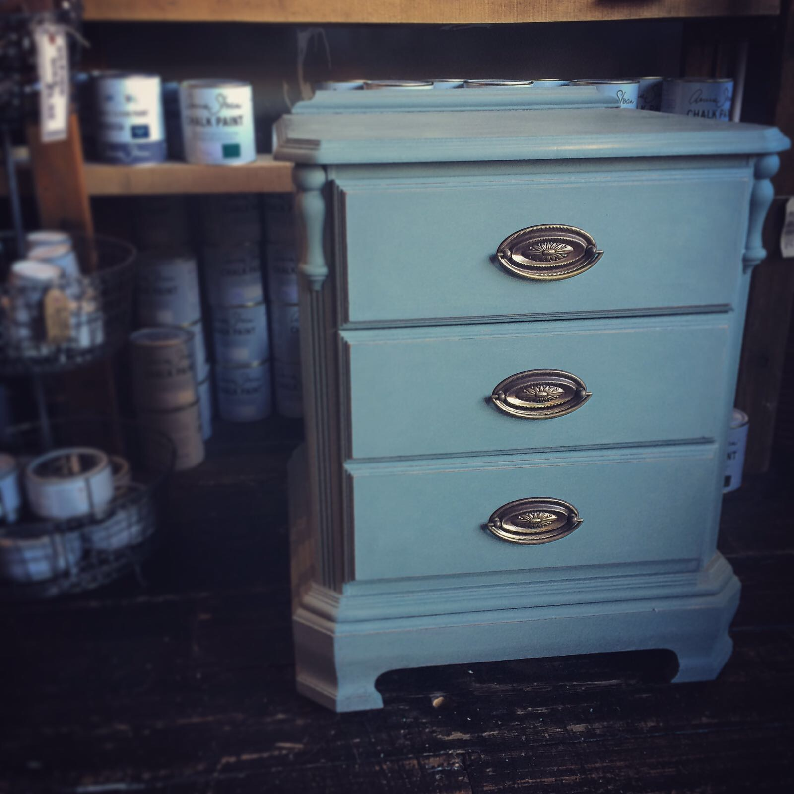 Pair of Ducal bedside cabinets in Duck Egg Blue £220