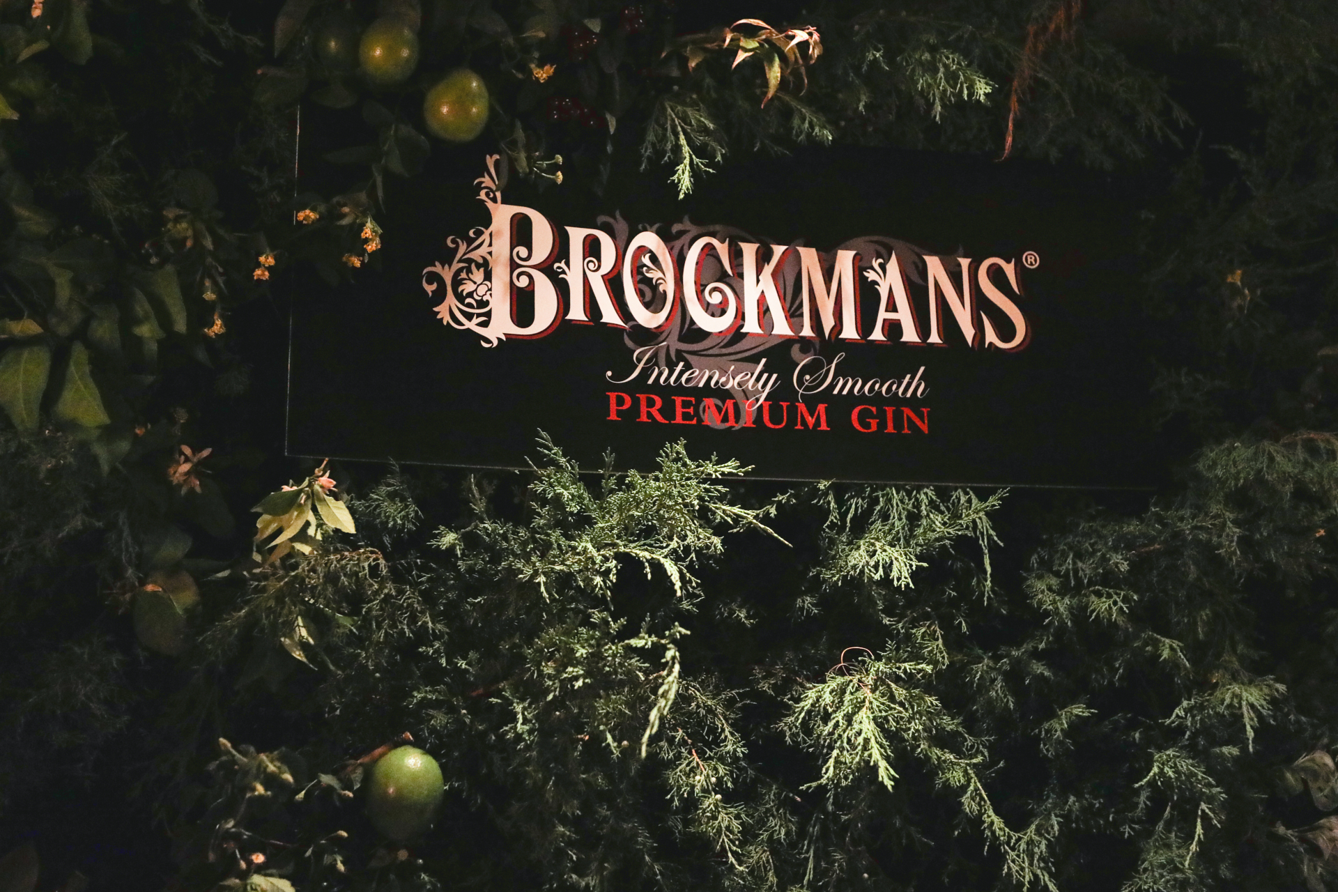 Wall of botanicals at the NoMad hotel for a Brockman's Gin party. Courtesy Brockman's Gin.
