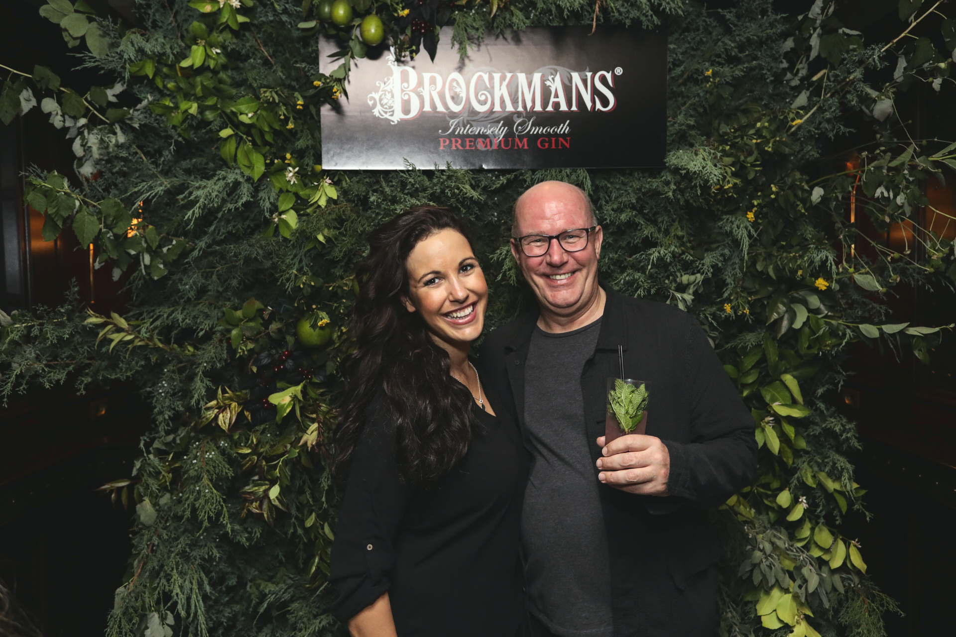 Brockman Gin's global brand manager Laura Motson and Brockman's Gin co-founder Bob Fowkes at the NoMad hotel. Courtesy Brockman's Gin.
