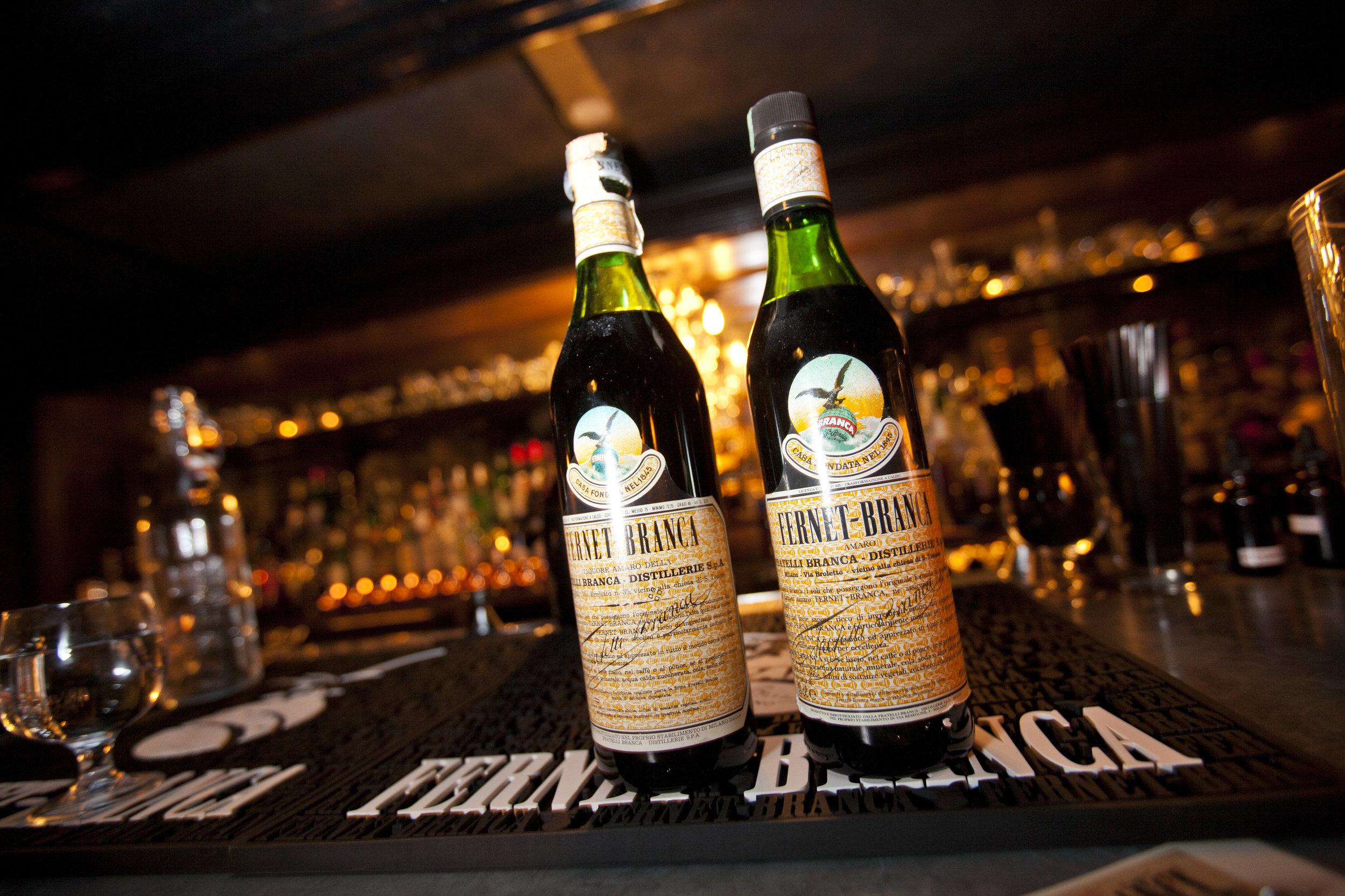 Fernet Branca at Chicago's Gilt Bar. Photo:Sammy Faze