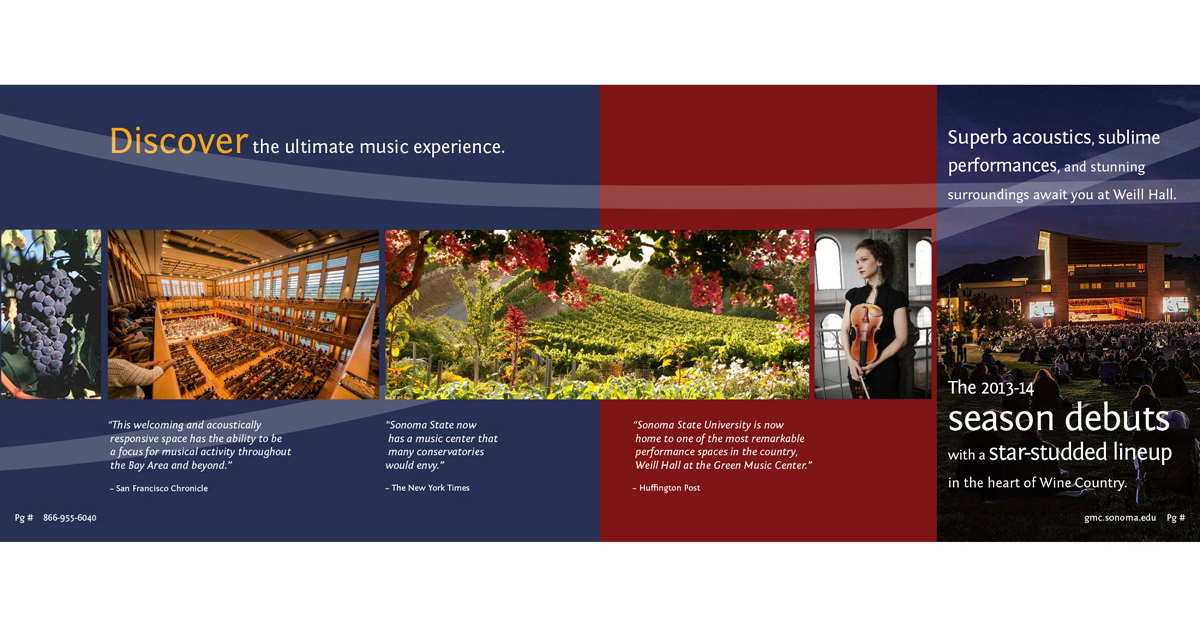 Green Music Center | Performance Series Brochure