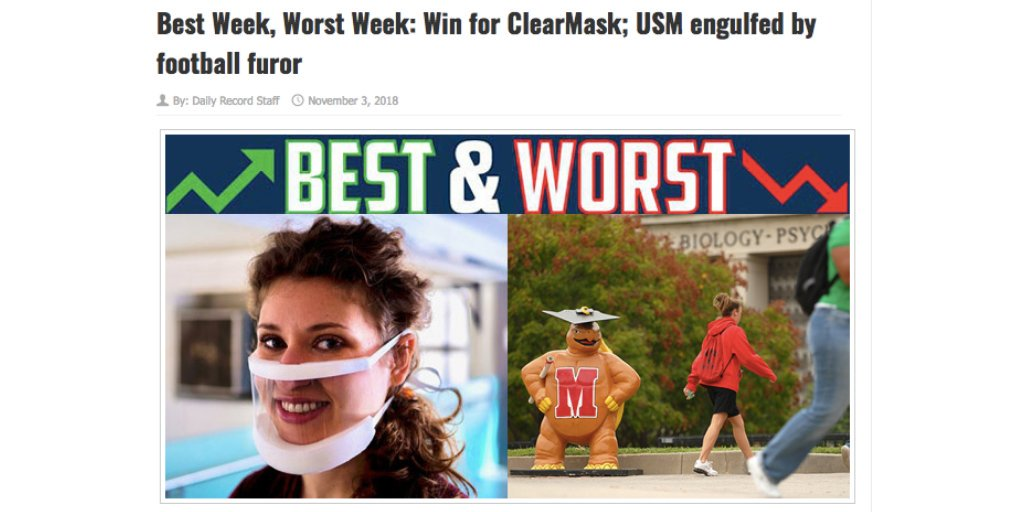ClearMask Daily Record Best Week