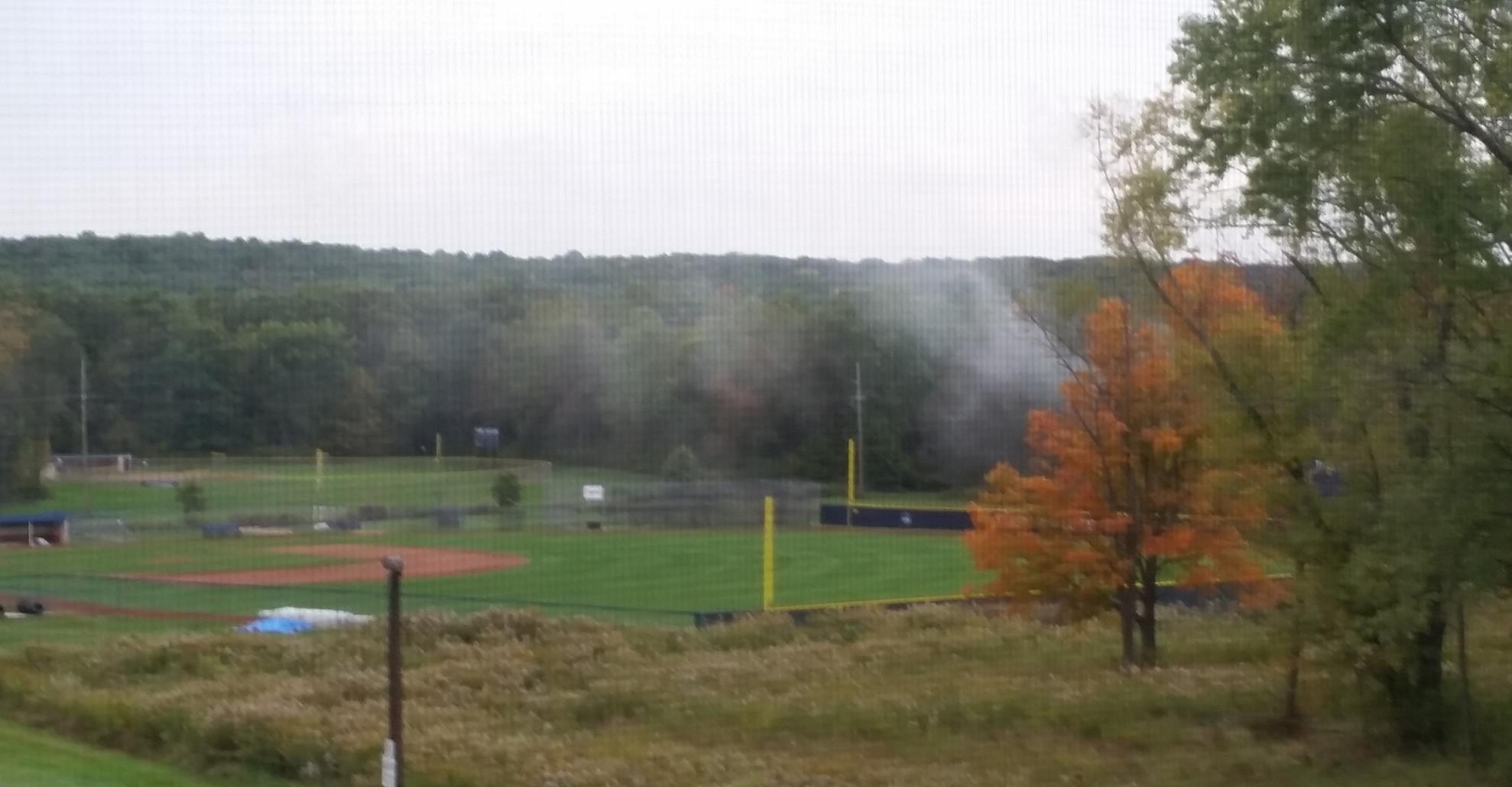 Tomcat Field and treeline at Thiel College