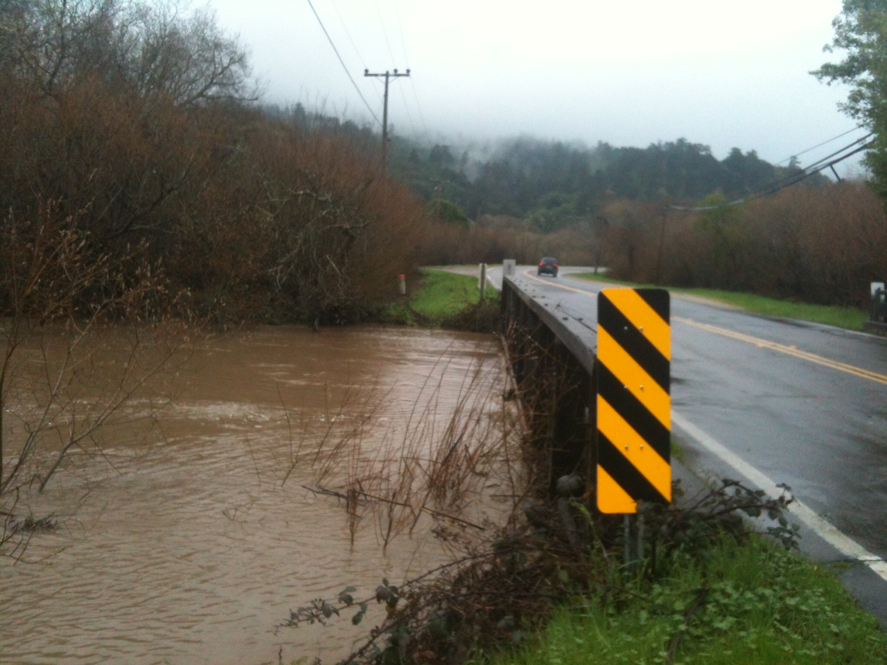 Olema Creek Rising During Storm, 2017.